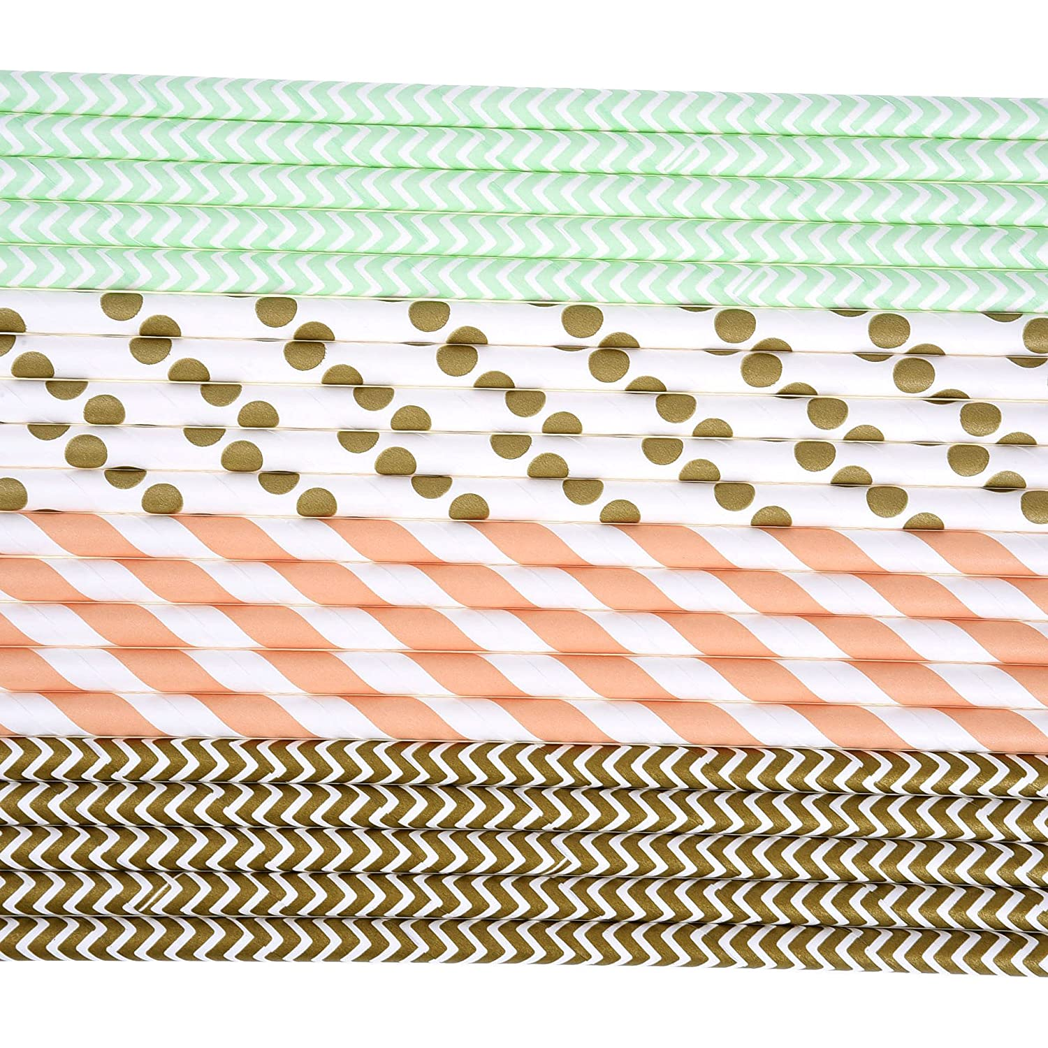 Christmas Wedding Color B Celebration Parties Paper Straws Drinking Decoration Straw for Birthday 100 Pieces