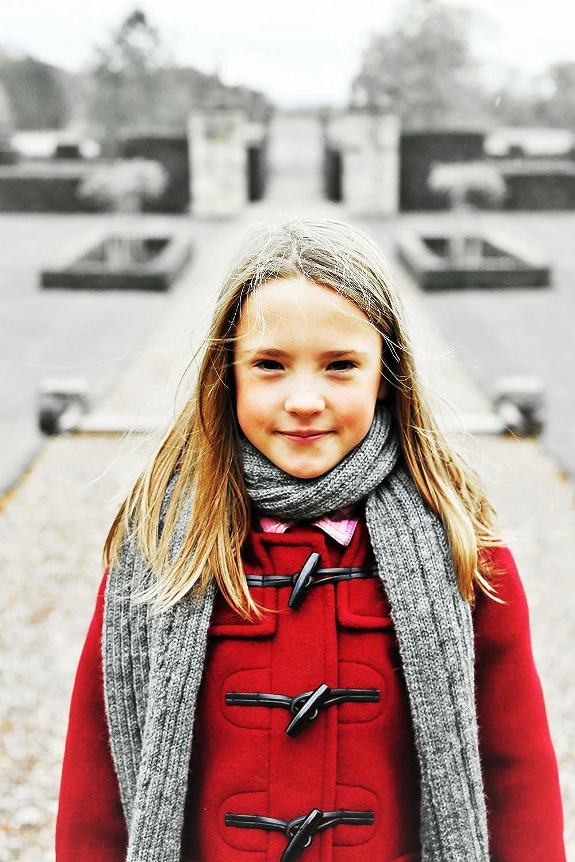 Kids Classic Duffle Coat Toggle Coat in Red