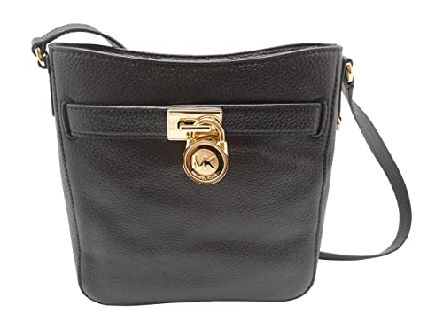 02097e23ca96 Michael Kors Hamilton Traveler Leather Crossbody Bag in Black: Amazon.ca:  Shoes & Handbags