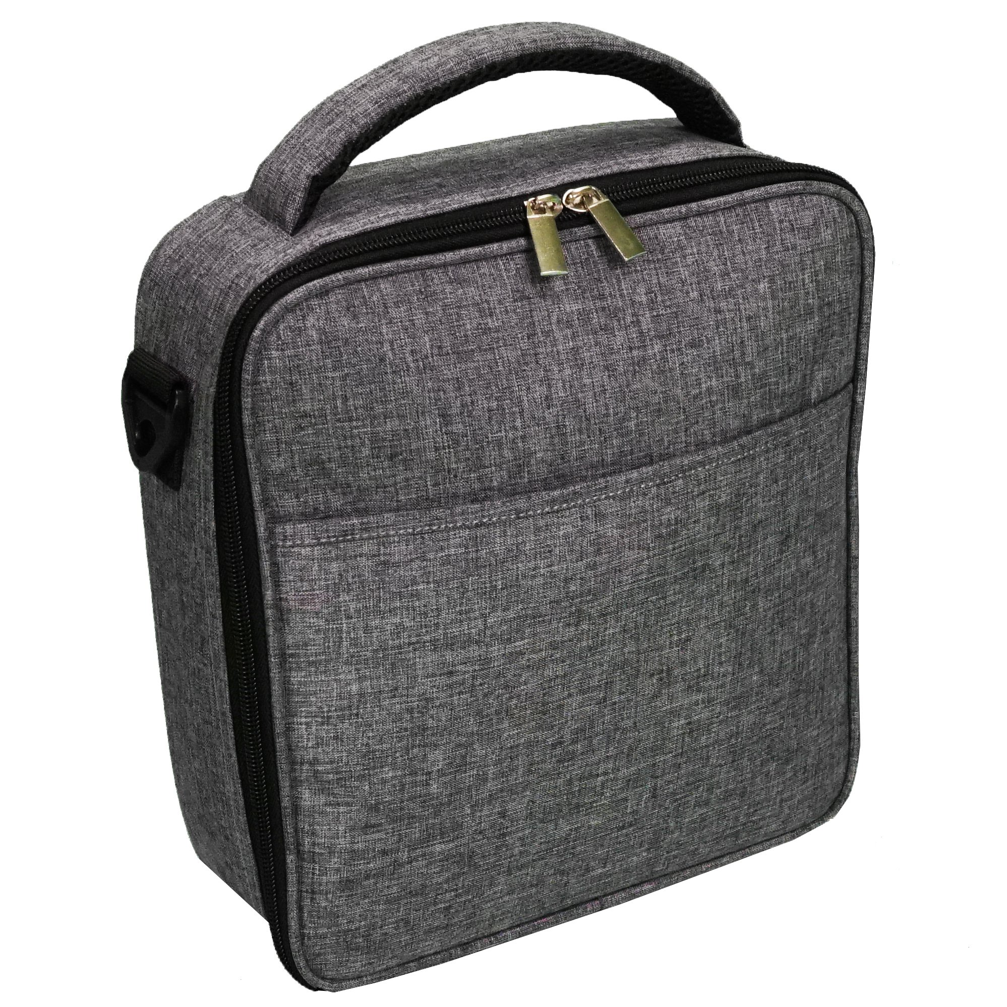 UPPER ORDER Durable Insulated Lunch Box Tote Reusable Cooler Bag 25 Percent Larger Storage (Charcoal Gray) by UPPER ORDER