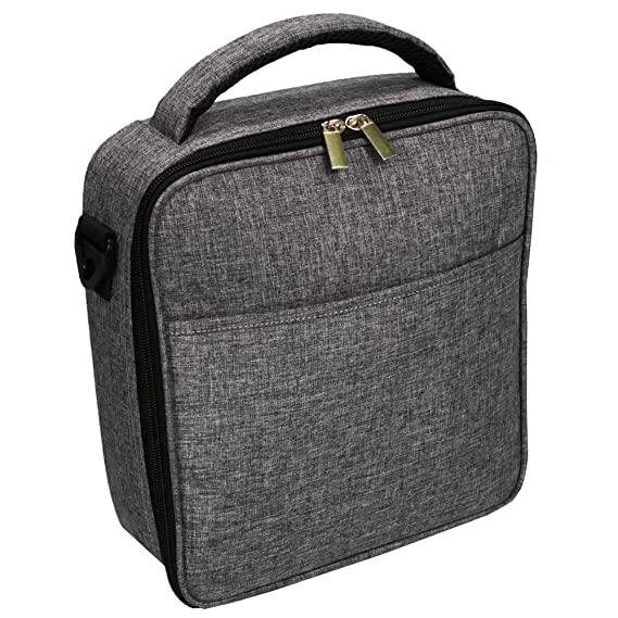 UPPER ORDER Durable Insulated Lunch Box Tote Reusable Cooler Bag 25% LARGER Greater Storage (Charcoal Gray)
