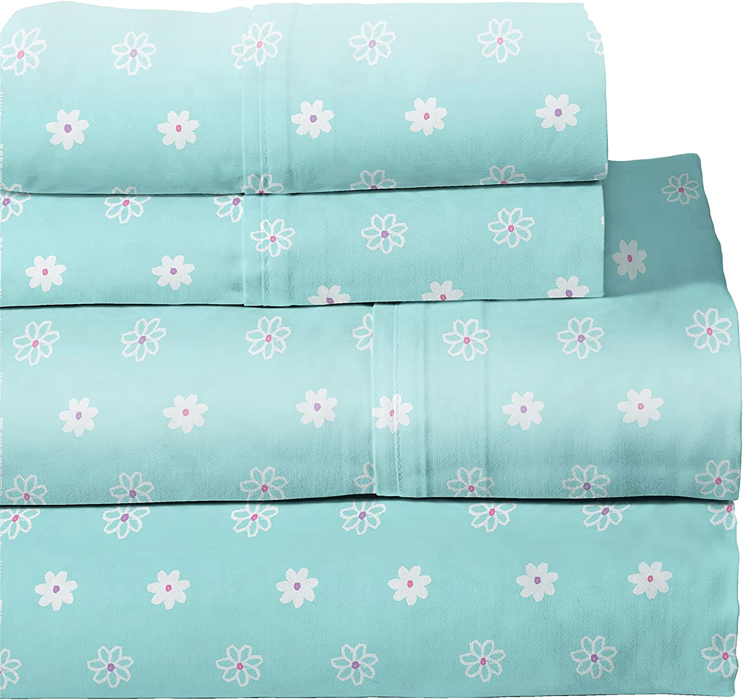 Lullaby Bedding 200-TBFLY Butterfly Garden Twin Cotton Printed Sheet Set