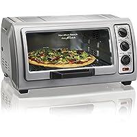 Hamilton Beach Countertop Toaster Oven Easy Reach with Roll-Top Door, 6-Slice & Auto Shutoff, Silver (31127)