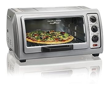 Hamilton Beach Countertop Toaster Oven Easy Reach With Roll Top Door,  6 Slice