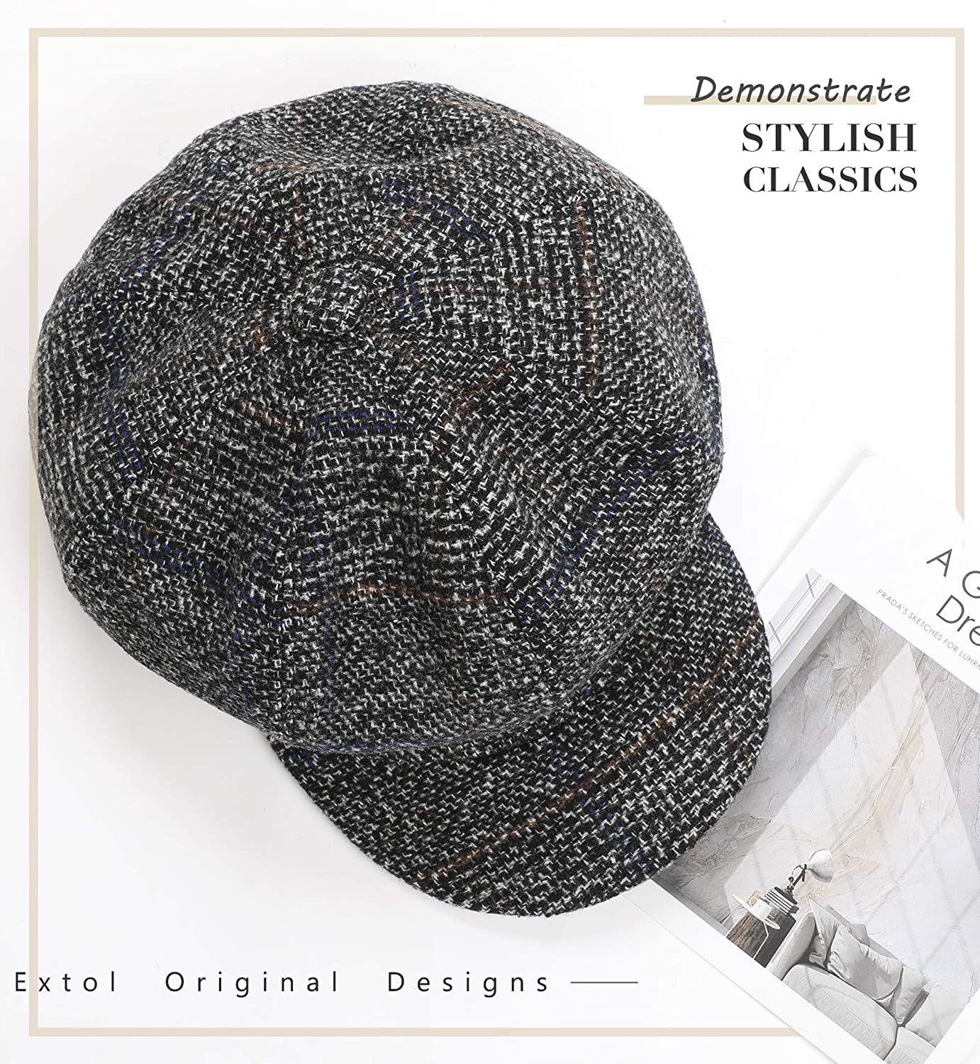 4c329531db4 Amazon.com  Sumolux Women Beret Newsboy Hat French Cotton Cap Classic  Autumn Spring Winter Hats  Sports   Outdoors
