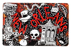 New Orleans Dark Voodoo Gothic Red and Black Souvenir 3D Refrigerator Magnet