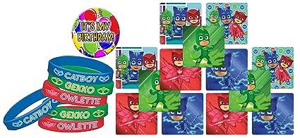 24 PJ MASKS Lrg Character Stickers (Cat Boy Gekko Owlette) & 12 PJ MASKS
