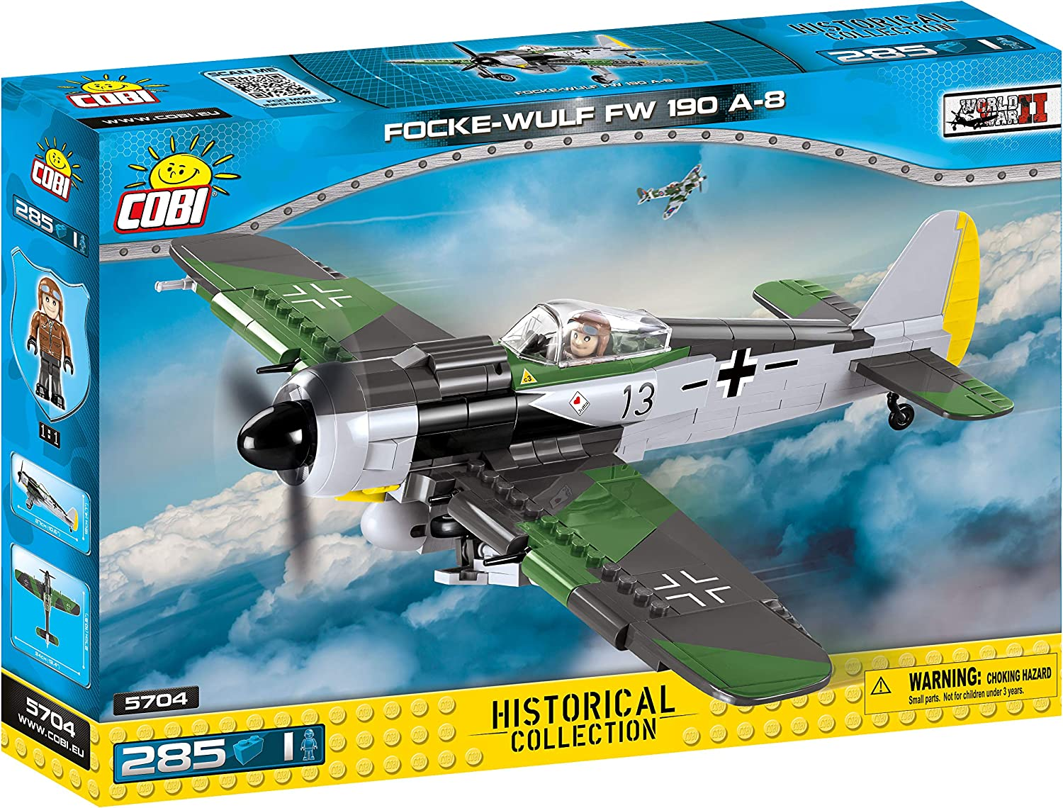 COBI Historical Collection Focke-Wulf FW 190 A-8 Plane, (Model: 5704)