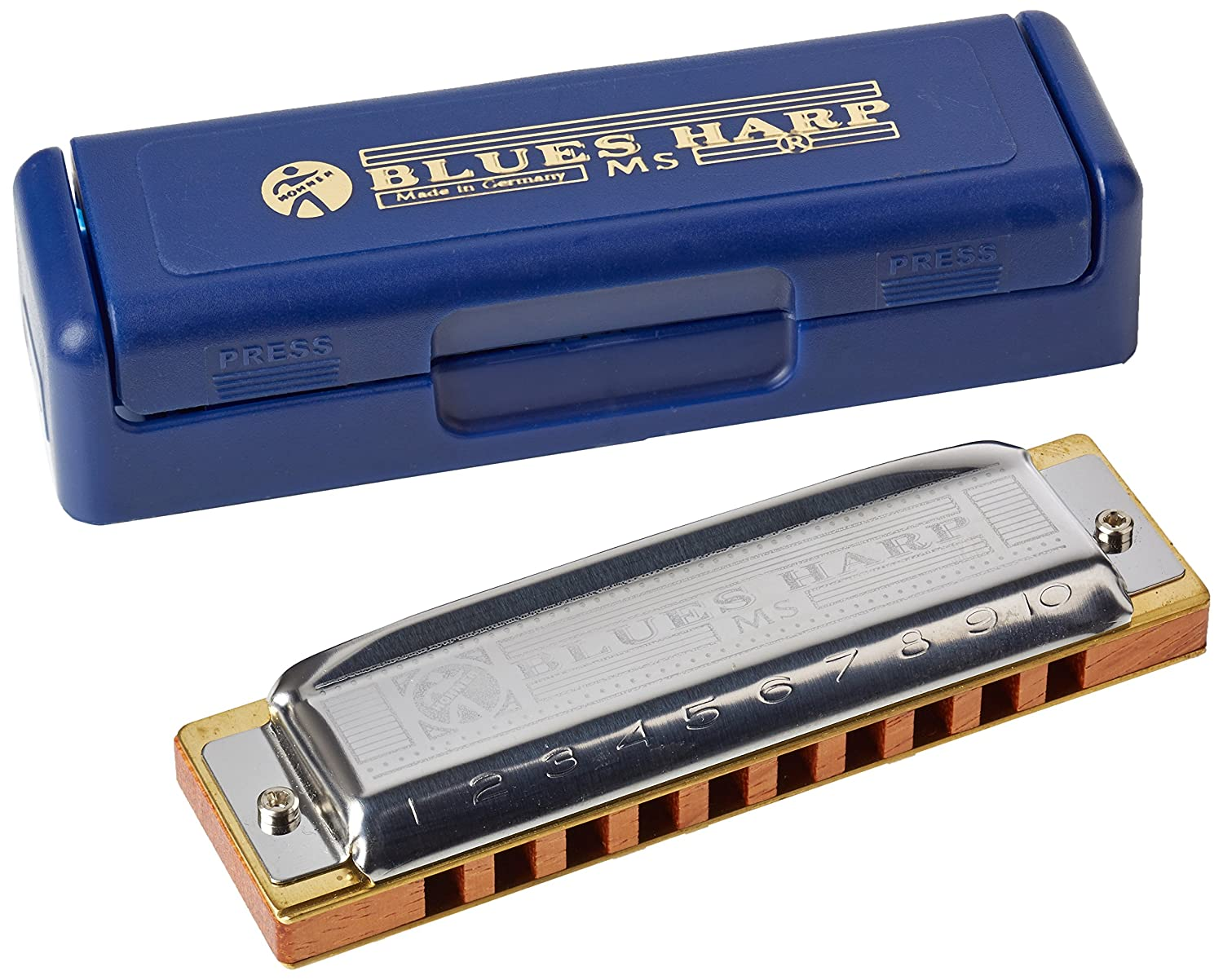 Hohner M533086 - Armónica en Sol Mayor (acero inoxidable), color azul 532BX-G#