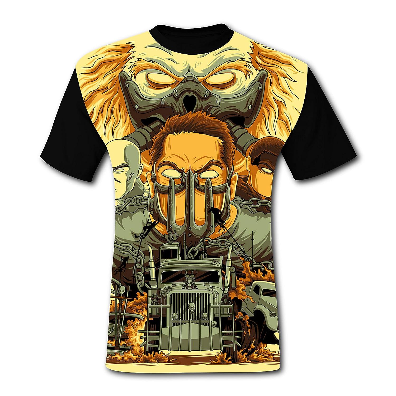 58d864f32ccf0 Amazon.com: Deborahbe Mad Max Men's T-Shirt Short Sleeve Air Tee ...