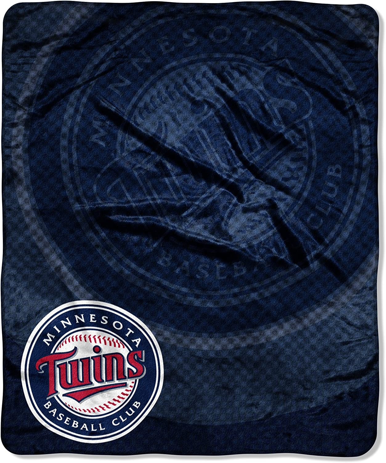 """Officially Licensed MLB Retro Raschel Throw Blanket, Soft & Cozy, Washable, Throws & Bedding, 50"""" x 60"""""""