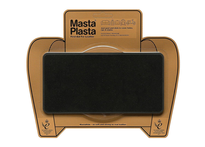 MastaPlasta 粘着パッチ レザーとビニールの修理用 L スエード 8 x 4インチ 複数の色をご用意 ブラック 5060226483723  ブラック B07DCYLWFV