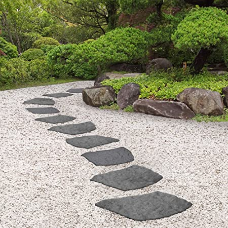 Garden Gear Reversible Stepping Stones Eco Friendly Natural B Effect Ornamental Recycled Rubber For Garden Path Patio 1 Stone 45cm X 45cm 2 Stones Amazon Co Uk Garden Outdoors