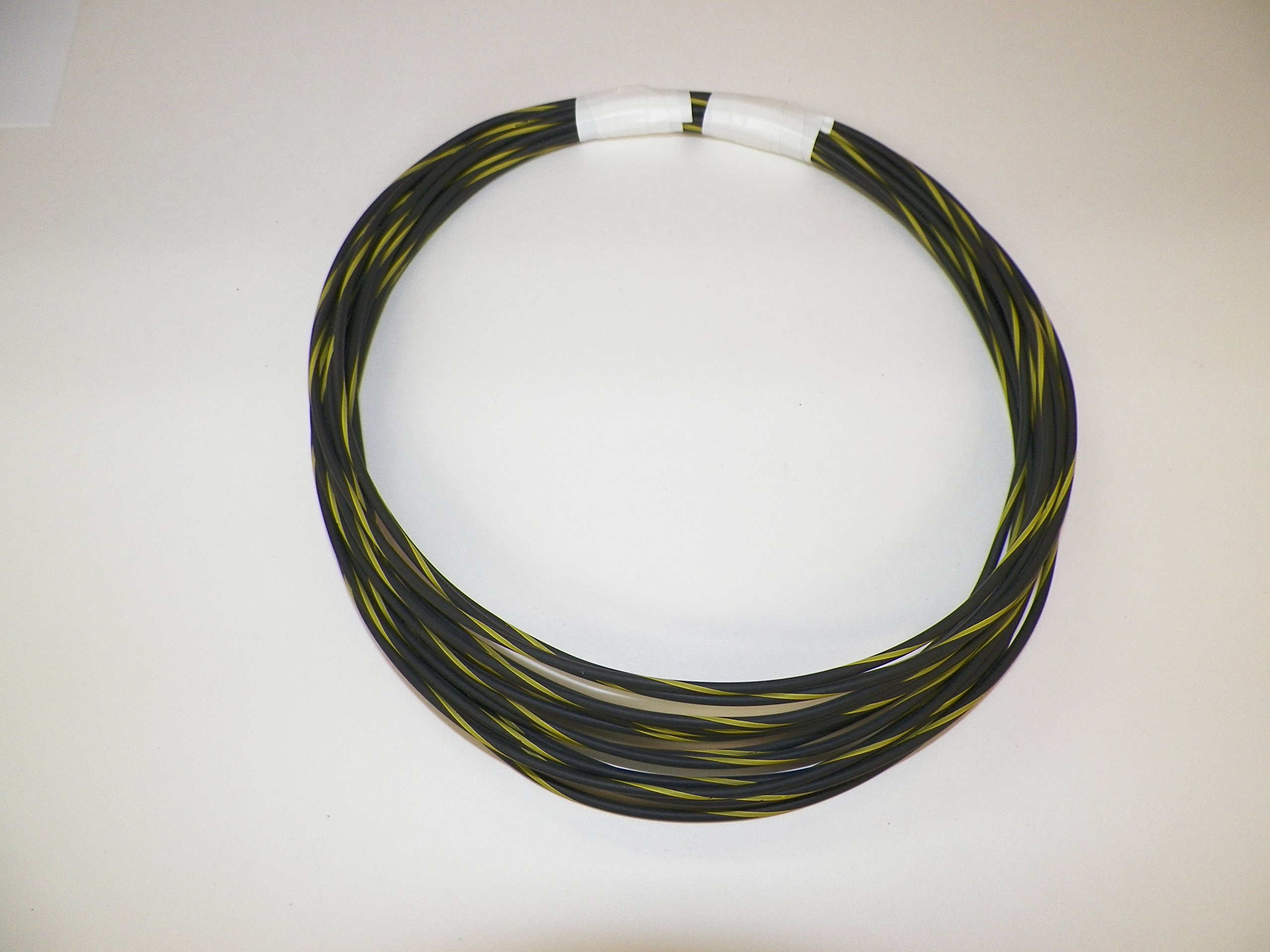 18 Ga Awg black/yellow Striped Automotive/General Purpose GXL Wire .94 O.D. 25' Superior Abrasion Resistance, High Heat, Resist grease,Oil, Gasoline,Acids