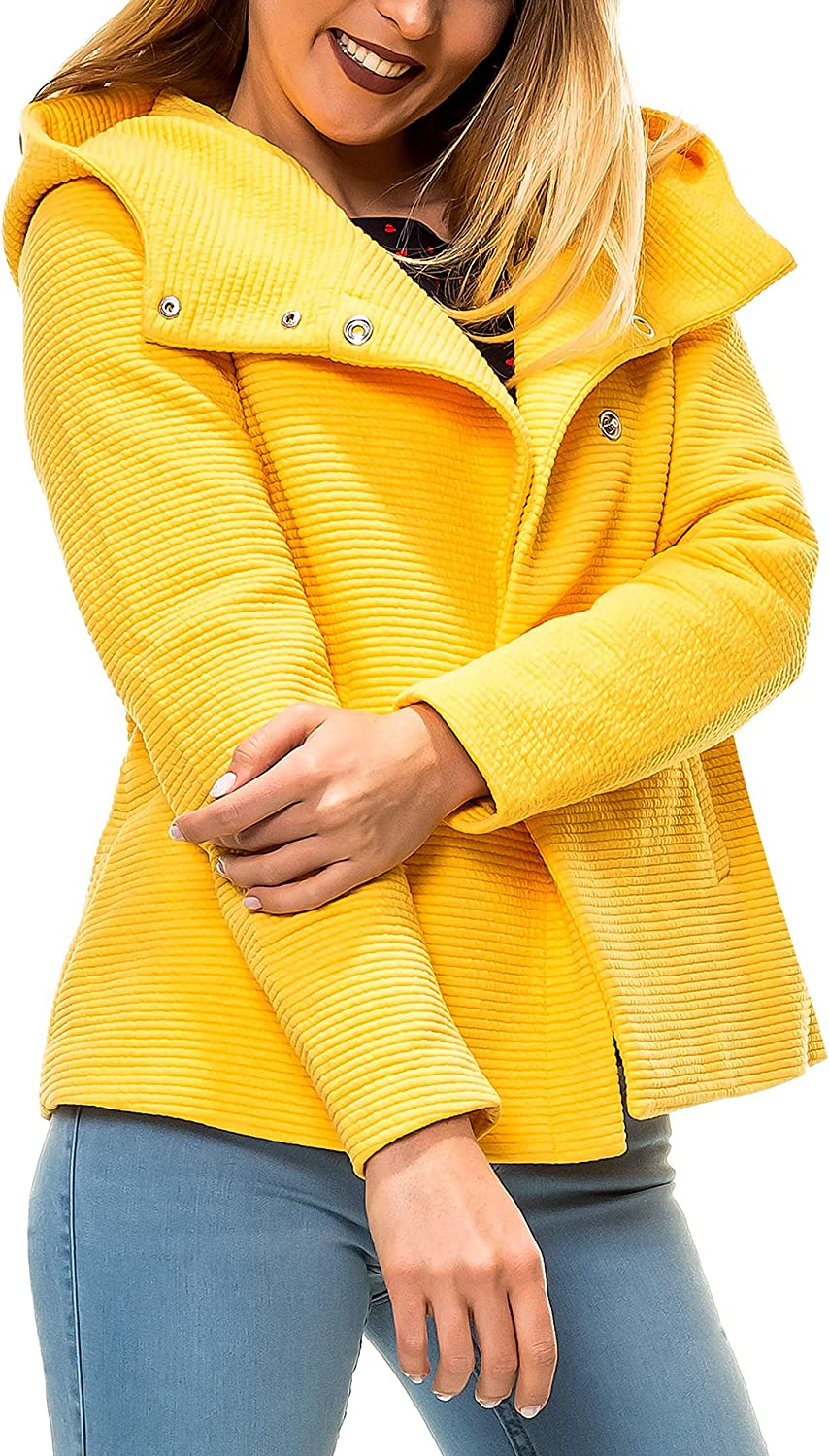ONLY Damen Jacke Onlmaddie Link Hooded Spring Coat Cc OTW