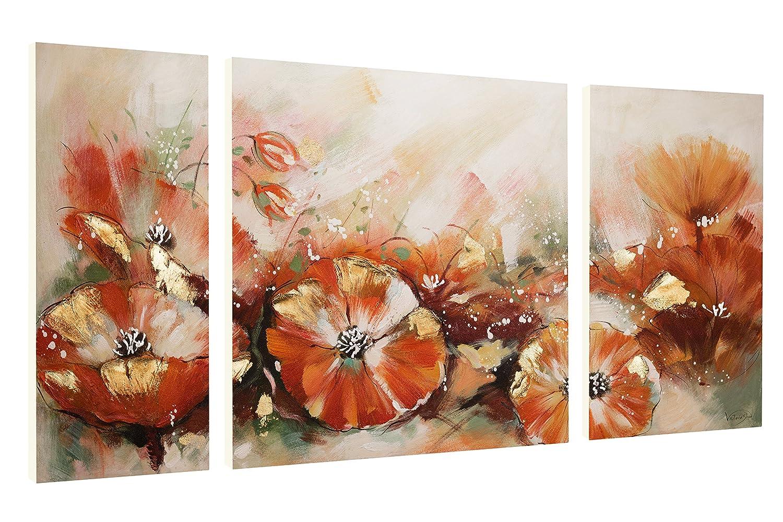 KunstLoft® Acryl Gemälde 'Scent of of of Bloom' 140x70cm   original handgemalte Leinwand Bilder XXL   Bunt Blumen Abstrakt Deko   Wandbild Acrylbild Moderne Kunst mehrteilig mit Rahmen f8def5