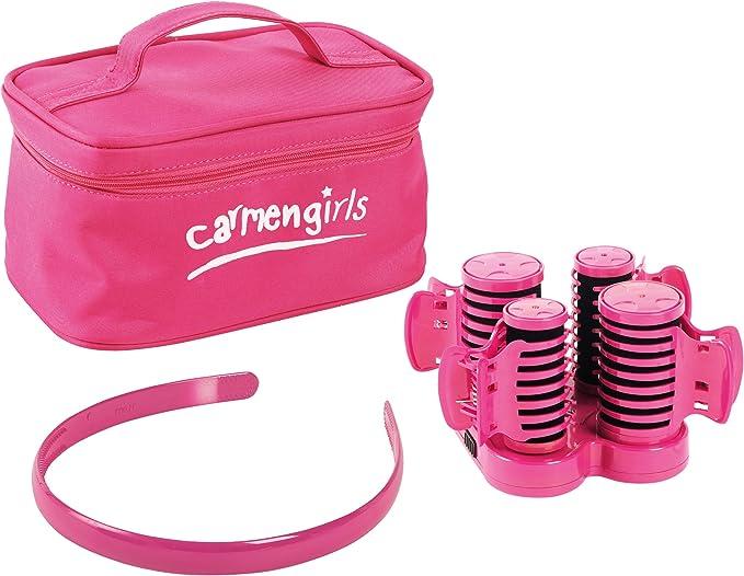 Carmen Girls Heated Hair Roller Set - Girly Design