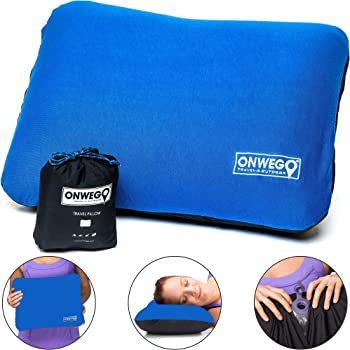ONWEGO 'Soft-Top' Inflatable Backpacking, Camping Pillow
