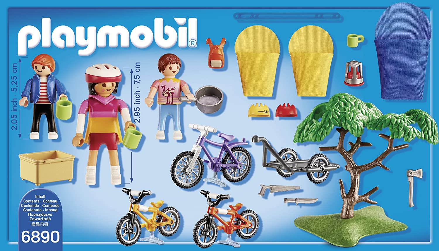 Playmobil Campamento de Verano- Biking Trip Playset, Multicolor ...
