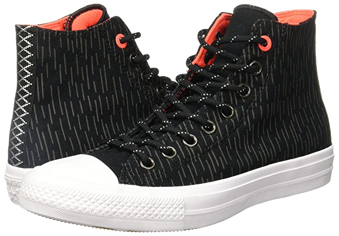 01176147b179 Converse CHuck Taylor II Whit Canvas Fashion Sneakers Black Reflective Lava  9 B(M) US Women   7 D(M) US Men  Buy Online at Low Prices in India -  Amazon.in