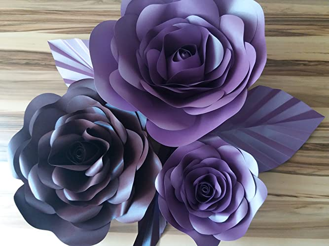 3 Giant Paper Flower Wall Art Set Amazon Co Uk Handmade