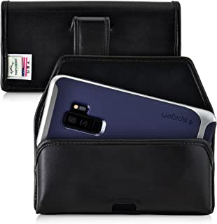 product image for Turtleback Holster Compatible with Samsung Galaxy S10+ Plus S9+ S8+ A30 A20 A50 Black Belt Case Leather Pouch with Executive Belt Clip Horizontal Made in USA