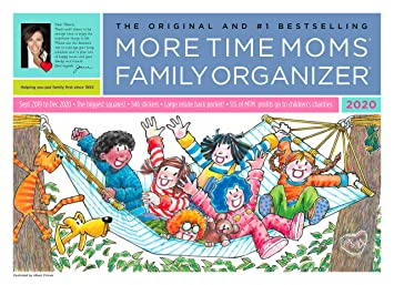 More Time Moms 2020 Family Organizer Wall Calendar (Sept 2019 to Dec 2020, 16 Months) - Organization System for Busy Families - with 546 Stickers for ...