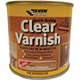 Everbuild EVBWVARCLG02 Quick Dry Wood Varnish Gloss Clear 250 ml