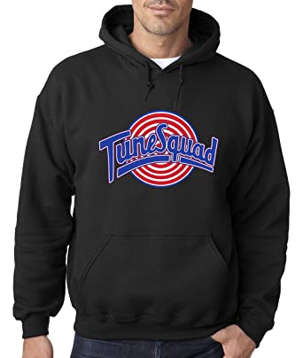 d4ad030c3eaa New Way 487 - Hoodie Tune Squad Space Jam Basketball Team Unisex Pullover  Sweatshirt Small Black
