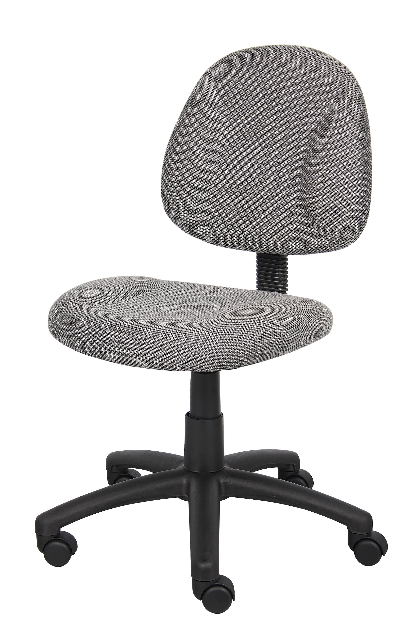 Fabric Task Office Chair Armless Chair Thick Padded Seat