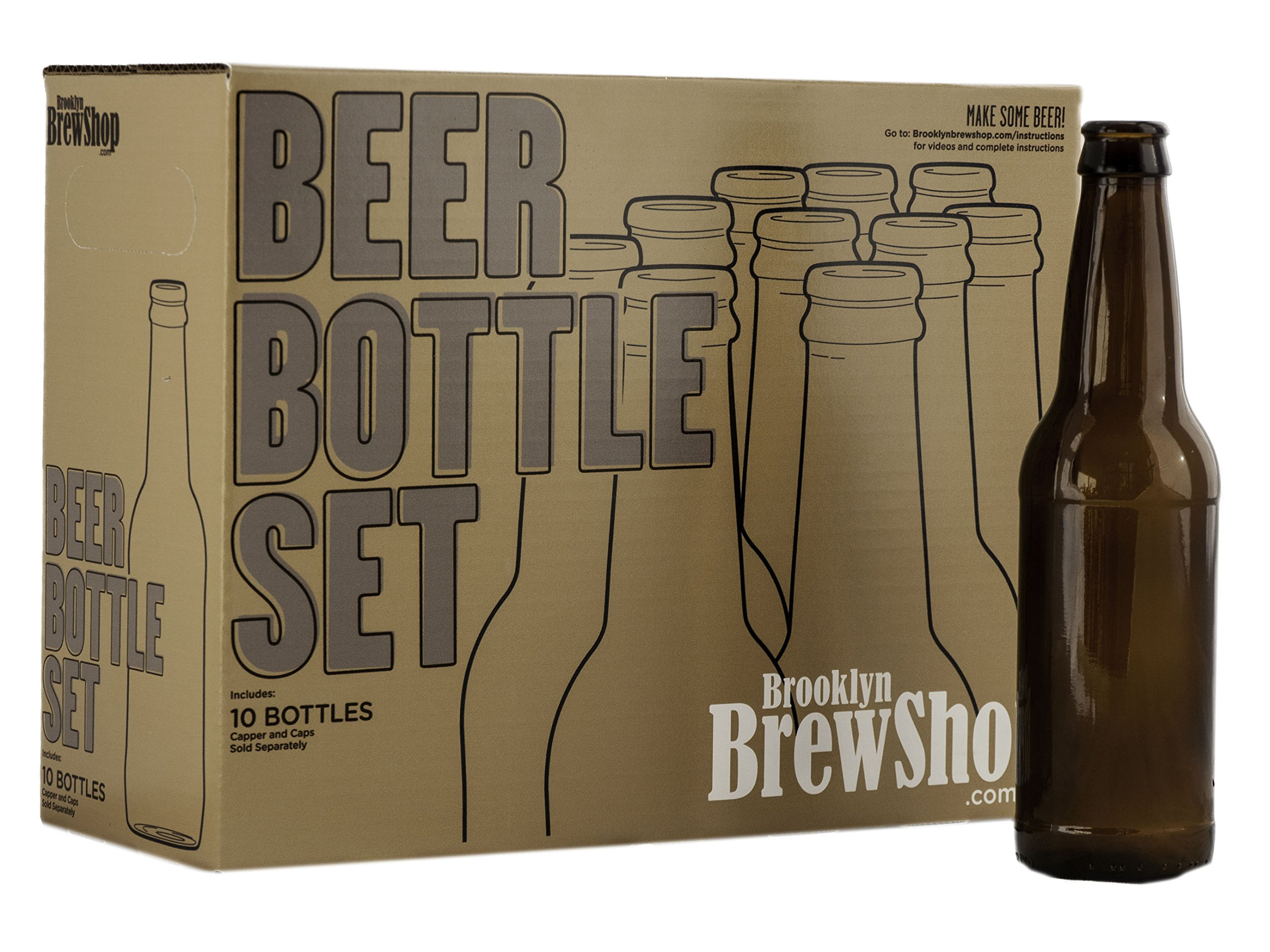 Brooklyn Brew Shop ACBBS Brewing Kit Beer Making Accessories, Brown