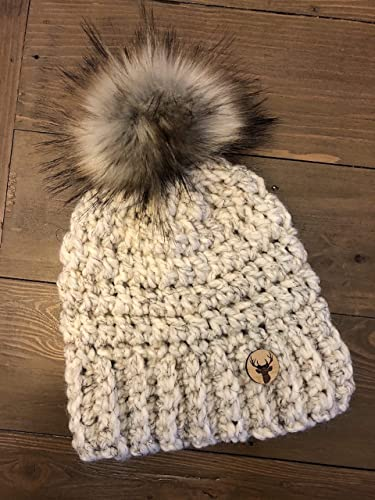 Image Unavailable. Image not available for. Colour  Women s Crochet Beanie  Toque Winter Hat ... 2e3cf709834e