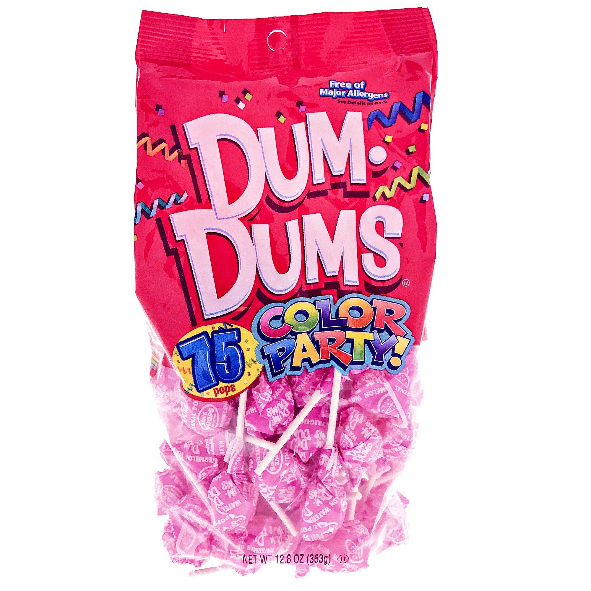 Amazon.com : Hot Pink Dum Dums Color Party - Watermelon Flavored ...