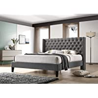 Deals on ALTOZZO Pacifica Tufted Upholstered Platform Contemporary Bed