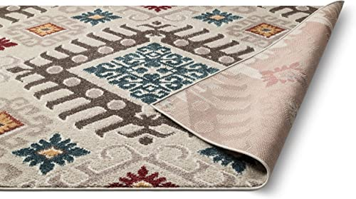 Well Woven Moroccan Ikat Area Rug Multicolor 8×10 8×11 7'10″ x9'10