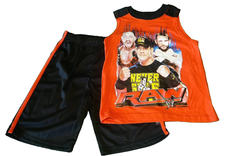 WWE Boys' 2 Piece Sleeveless Muscle Tee and Short Set