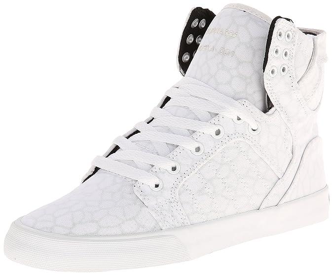 Supra WOMENS SKYTOP - zapatillas deportivas altas de lona mujer, WHITE/CHEETAH - WHITE WCH, 41