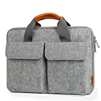 "Inateck 13-13.3 Inch Laptop Sleeve Case, Felt Laptop Bag Cover for MacBook Air 13.3 Inch/13"" MacBook Pro 2018/2017/2016, 13.3"" MacBook Pro 2012-2015, 12.3"" Surface Pro 3/4/5, Surface Laptop 2017-Light Gray"