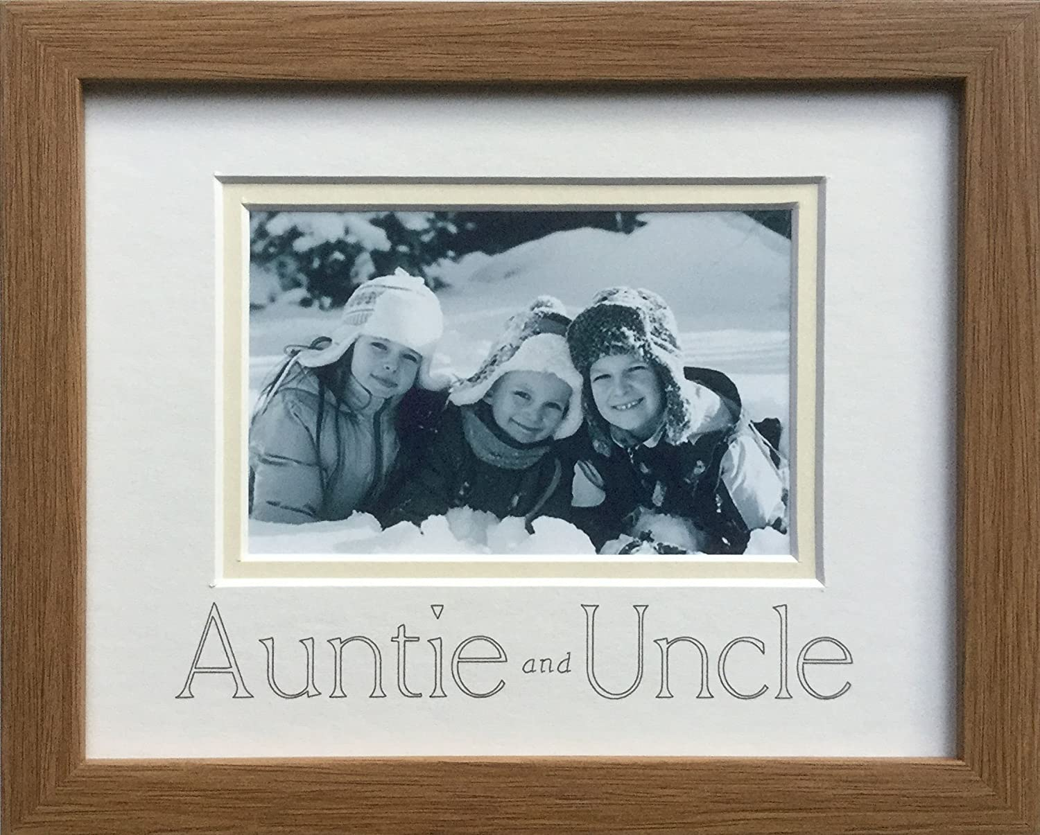 Auntie and Uncle Bilderrahmen 9 x 7 Eiche: Amazon.de: Küche & Haushalt