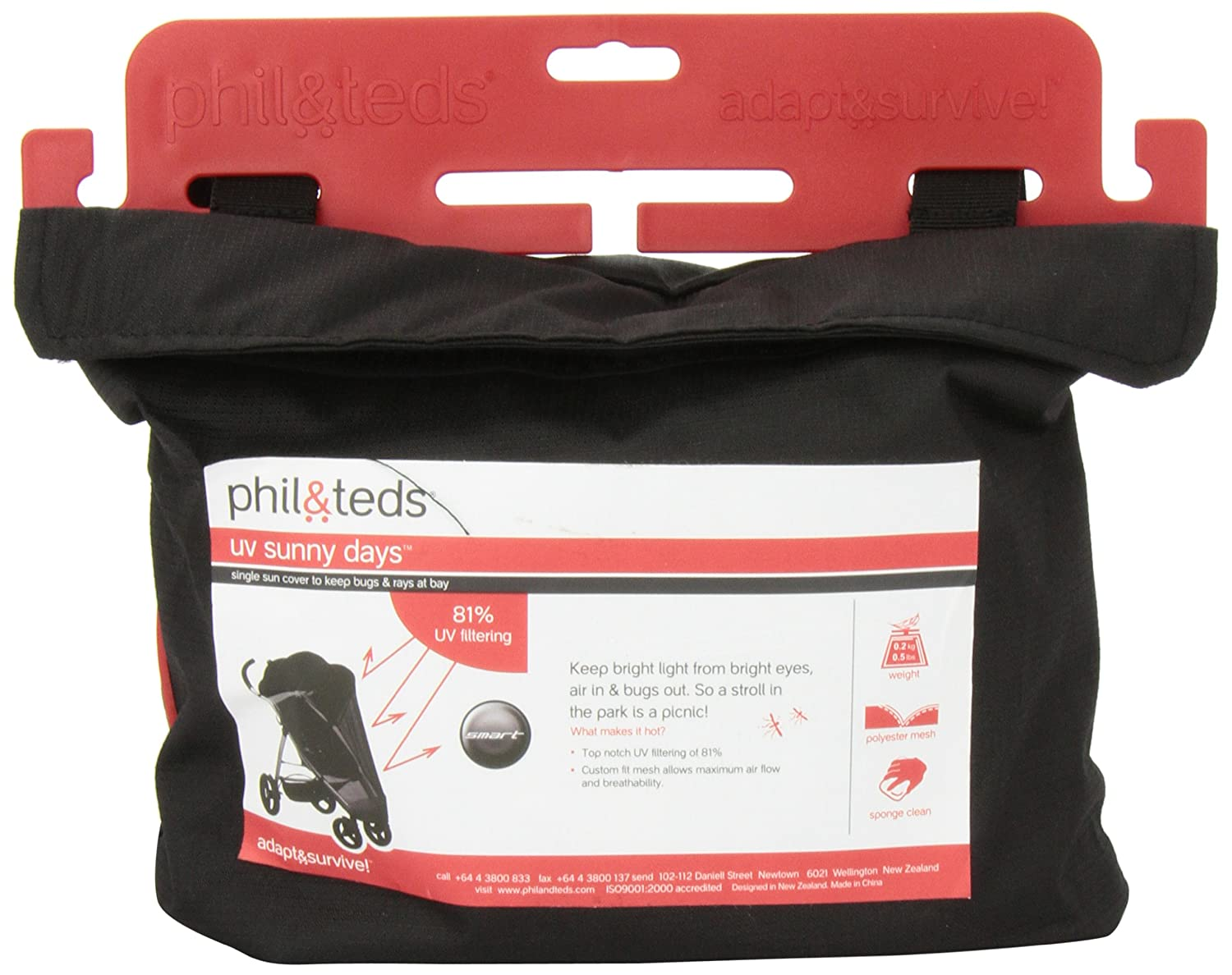 phil/&teds UV Sunny Days Single Mesh Cover Fits Classic and Explorer Stroller