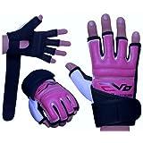 EVO Ladies Pink REX Leather body combat GEL Gloves MMA Boxing Punch Bag Martial Arts Karate Mitt