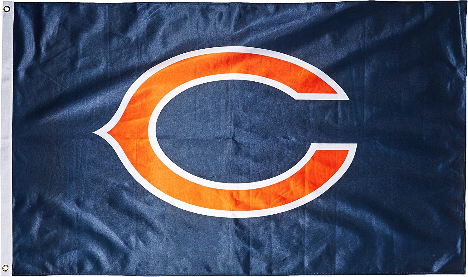 NFL Chicago Bears 3-Foot by 5-Foot Single Sided Banner Flag with Grommets
