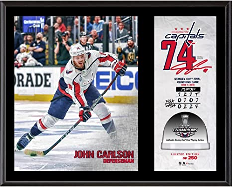 7904f4e351c John Carlson Washington Capitals 2018 Stanley Cup Champions 12   x 15    Sublimated