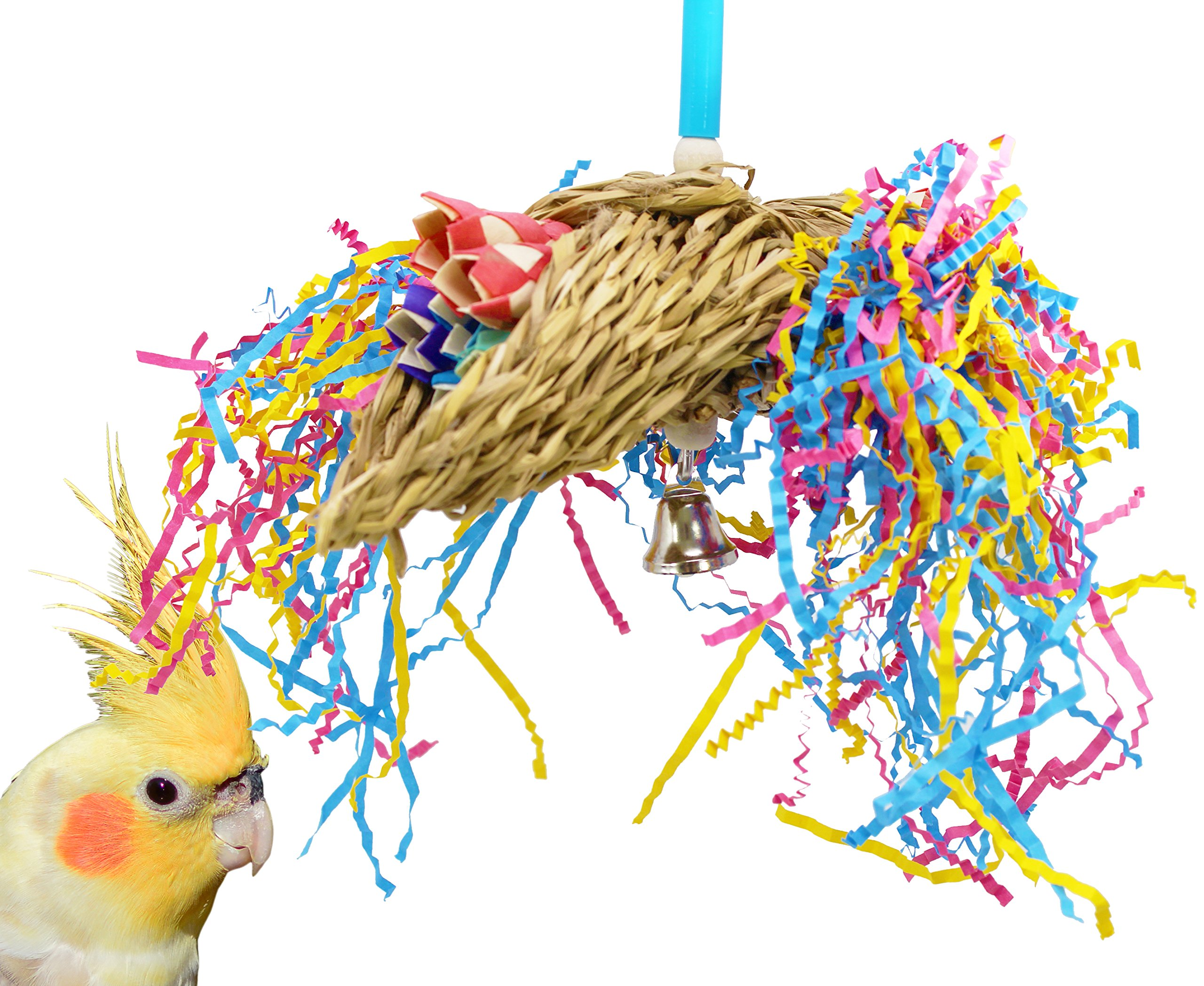 Bonka Bird Toys Mini Taco 1359 Foraging Bird Toy Parrot Cages Cockatiel Parakeet Conure Lovebird Toys