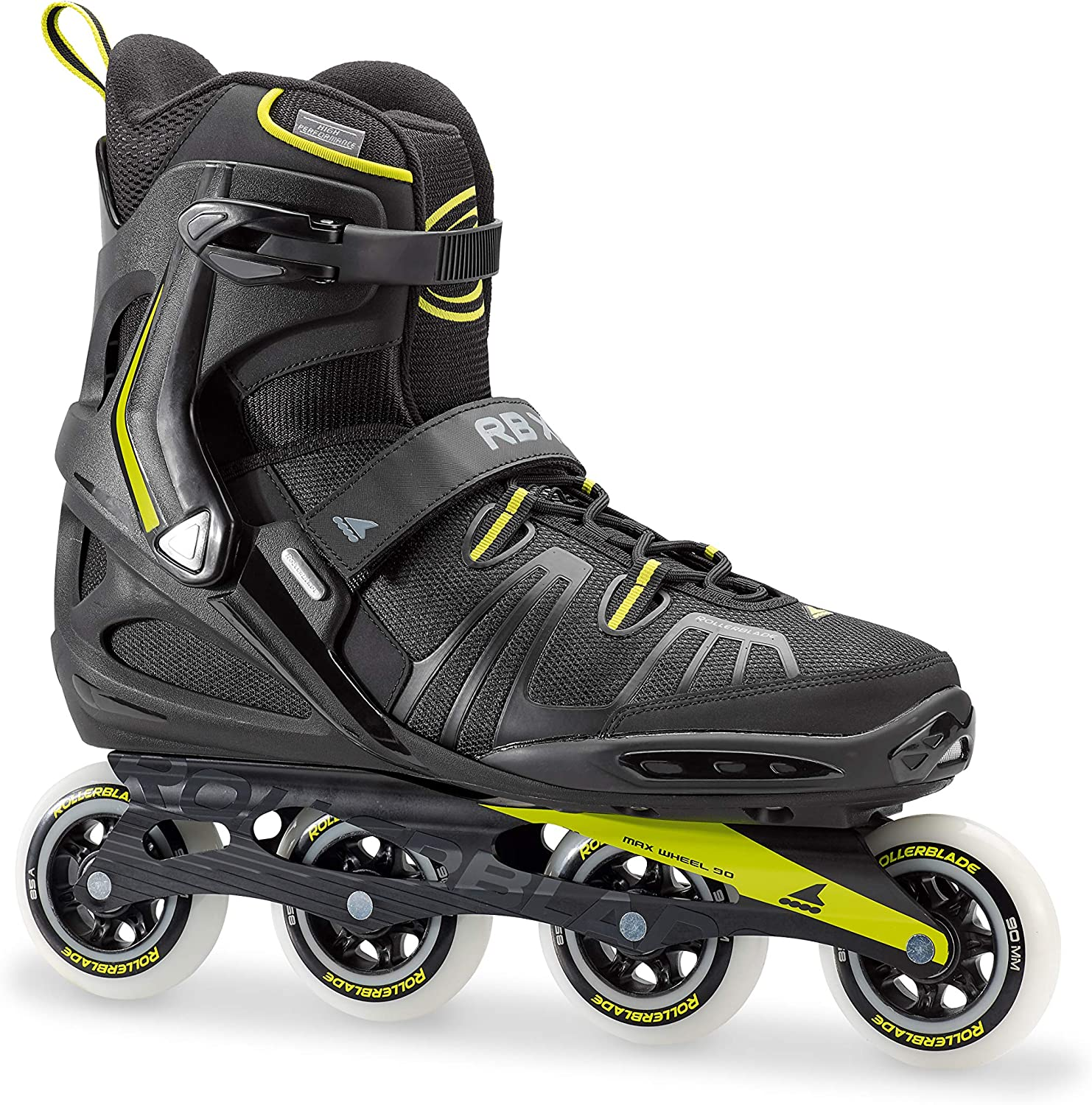 Rollerblade RB XL Men s Adult Fitness Inline Skate, Black and Lime, High Performance Inline Skates