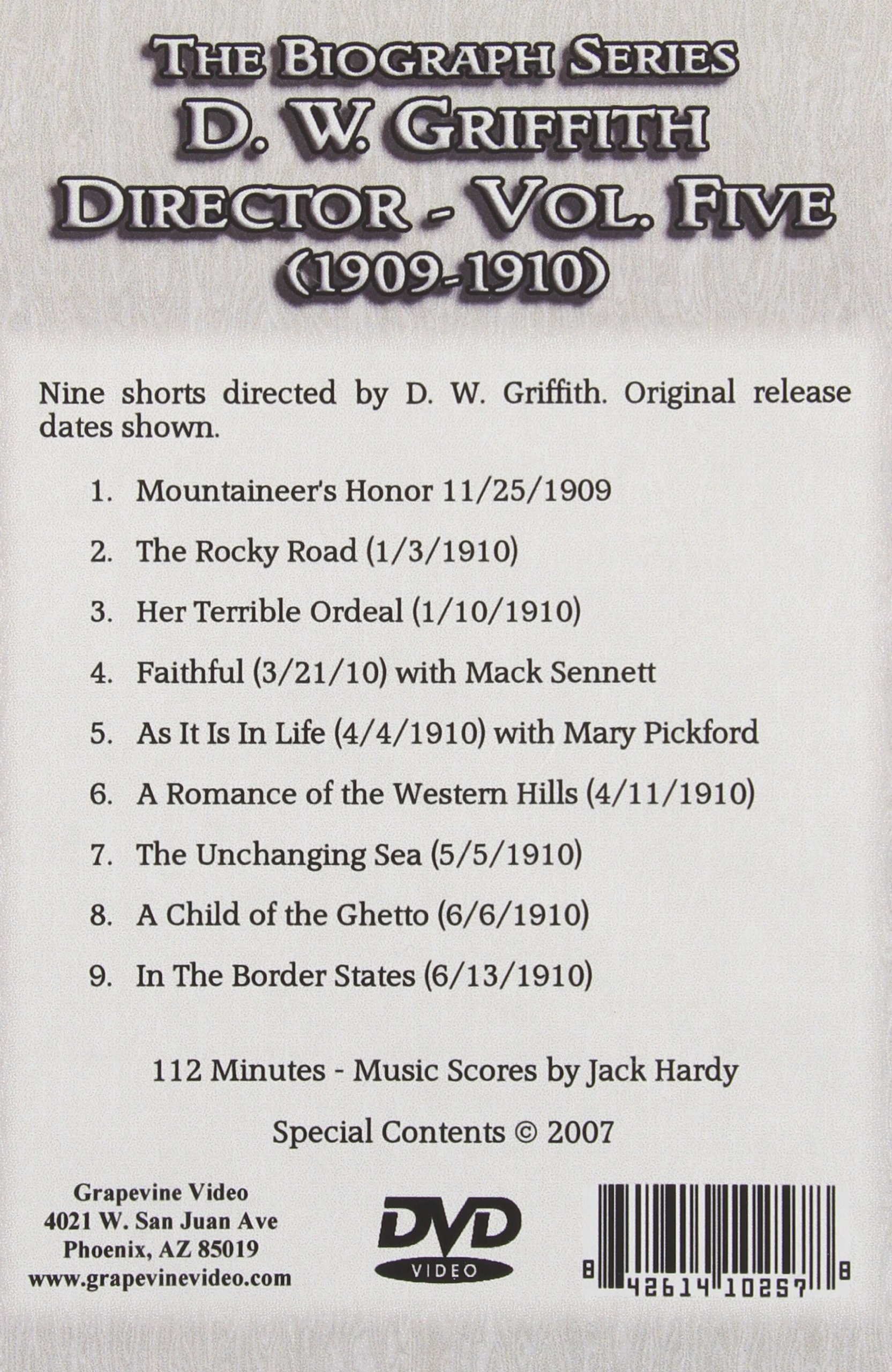 D.W. Griffith: Director: Volume 5