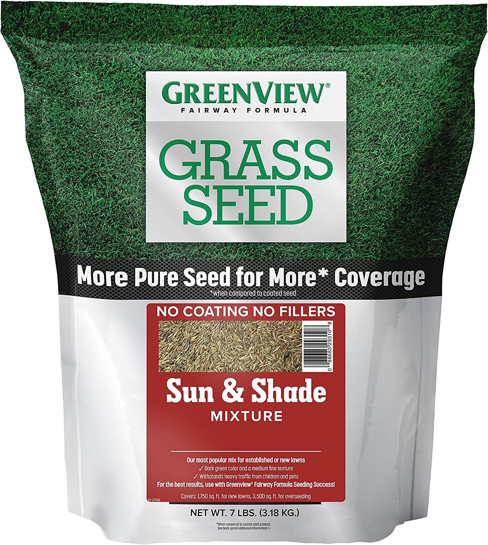GreenView 2829337 Sun & Shade Mixture Fairway Formula Grass Seed, 7 lb
