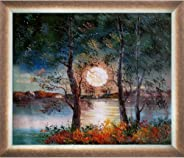 ArtistBe Moon Reproduction Framed Oil Painting, 28