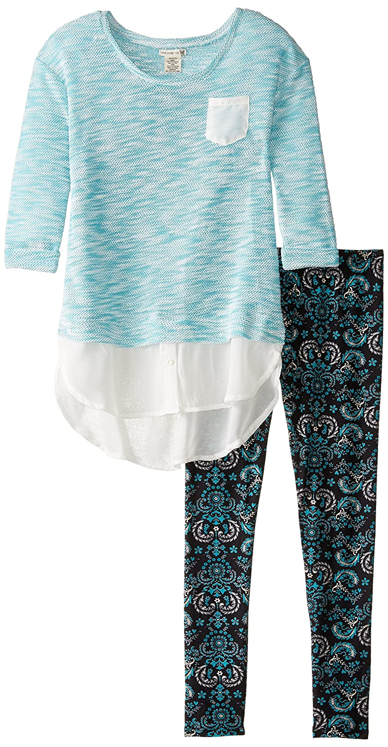 One Step Up girls Two-piece Set With Sweater Top With Leggings YSQ23672