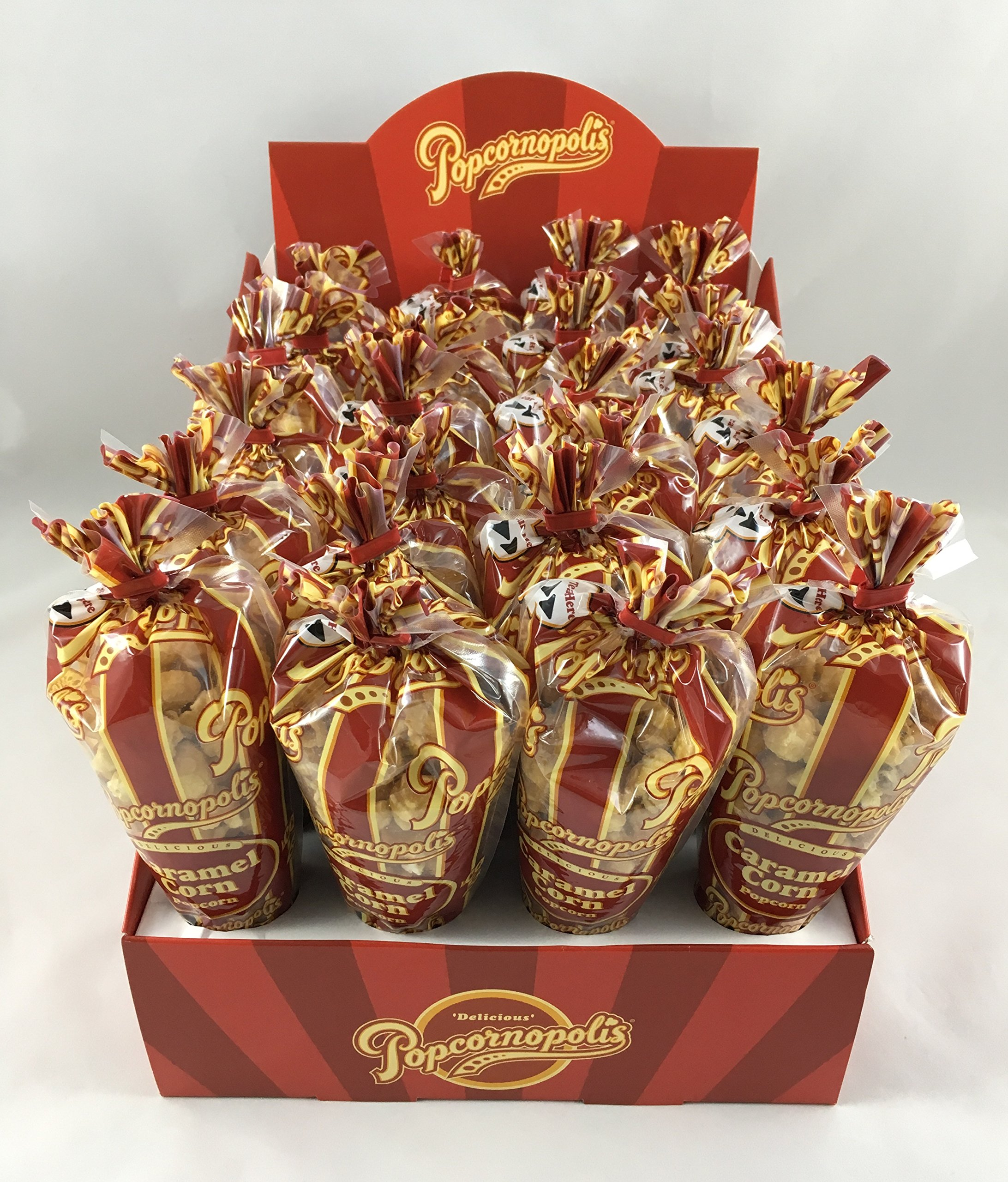 Popcornopolis Caramel Mini Cones 24ct. with Display Box, Great for Party Favors, & Snackrooms by Popcornopolis (Image #1)